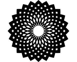 Silhouette-Schablone MANDALA, Indisches Mandala, 15 x 15 cm
