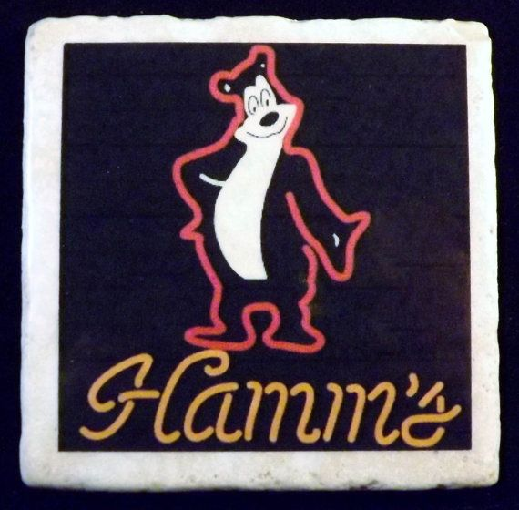 Hamm's Beer Sign Neon Coaster by TheCoasterMan on Etsy, $8.00