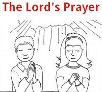 Browse the 5 pages in this free Lord's Prayer Coloring Book.