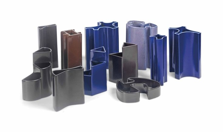 ANGELO MANGIAROTTI (B. 1921) A GROUP OF ARCHITECTURAL VASES, CIRCA 1968 produced by Fratelli Bram