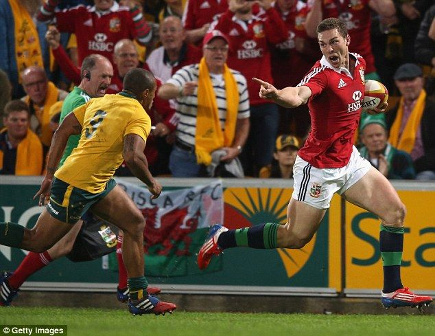 George North ran over following a dazzling solo run through the Aussies midfield! First test - British & Irish Lions #BritishandIrishLions #rugby
