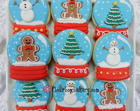 Flour Box Bakery ~ Day 12 of Cookie Videos: How to Decorate a Snow Globe Cookie