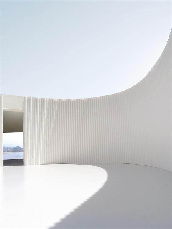 Chile House, Chile House Penco, Chile / Johnston Marklee minimal architecture in white