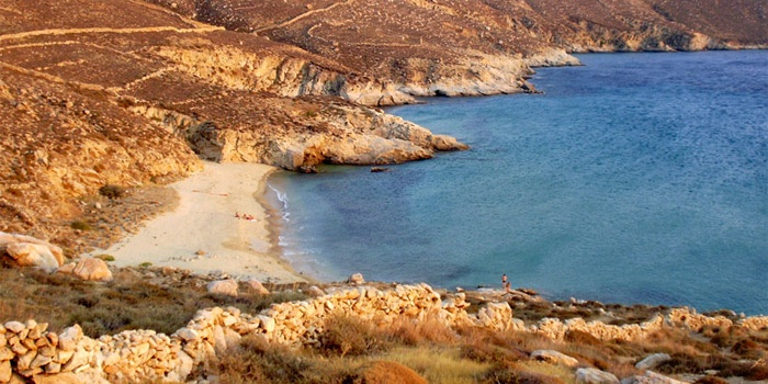Kalo Ampeli Beach in Serifos Island, Greece