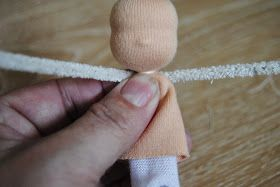 How to make a Sleeping Beauty doll with wool:   Materials:  * 6 inch cotton pipe cleaner  * 4 inch tubular cotton stockinet  * some cotton, ...