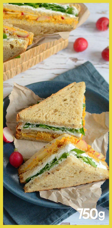 Club Sandwich Au Houmous De Carottes Club Sandwich Sandwich Fait Maison Recettes Club Sandwich