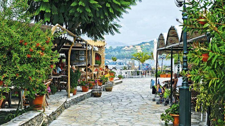 Gouvia, Corfu, Greece - a beautiful and bright road