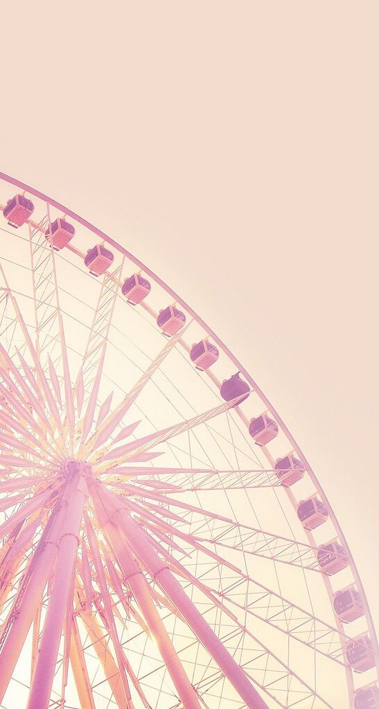 Pink Ferris Wheel ★ Find more pastel wallpapers for your #iPhone + #Android @prettywallpaper