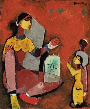 Untitled (1953) by Maqbool Fida Husain