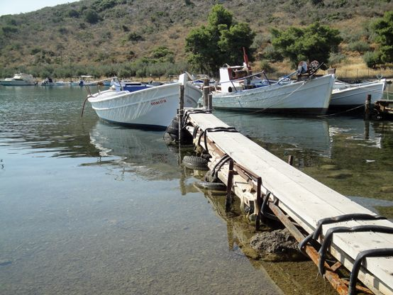 Fishing boats in Vivari, just outside Nafplio, Greece