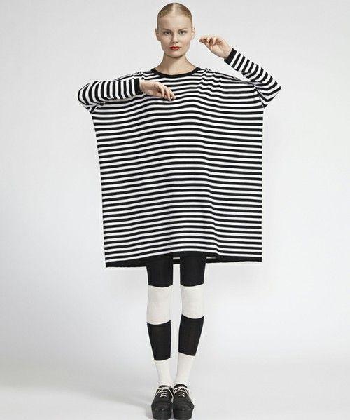 marimekko WEAR(マリメッコウェア)のTusina Tasaraita Knits / MOOLI(ワンピース・ドレス) ホワイト系その他