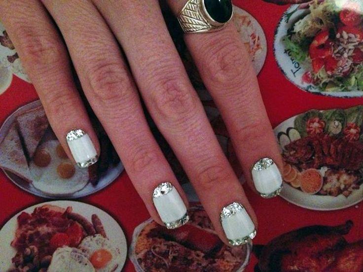 """Two Swipes of Silver"" by Natalie Pavloski #nailart"