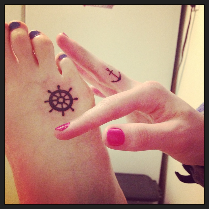My cousin Karly and I got friendship tattoos. Meaning we will guide each other but not hold each other back.