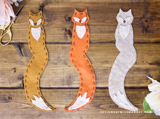 Felt Fox Bookmarks – Designs By Miss Mandee