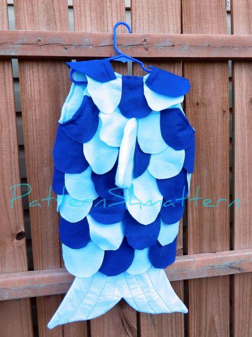 Come creare un semplice costume da pesce DIY #carnevale #sottomarino
