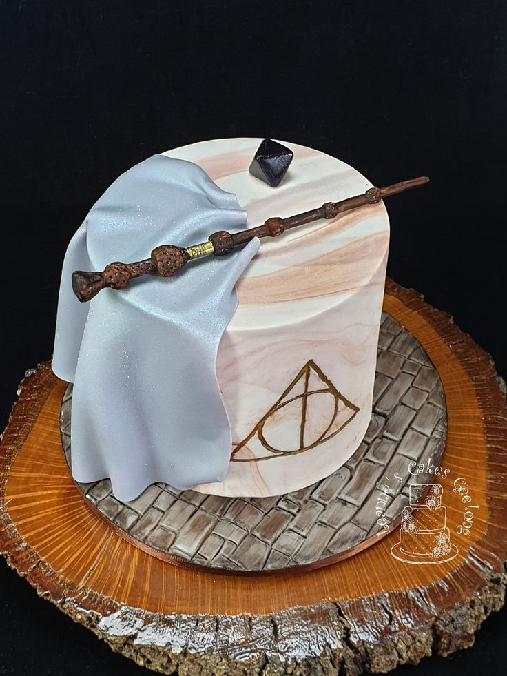 Harry Potter cake Deathly Hallows cake A very happy