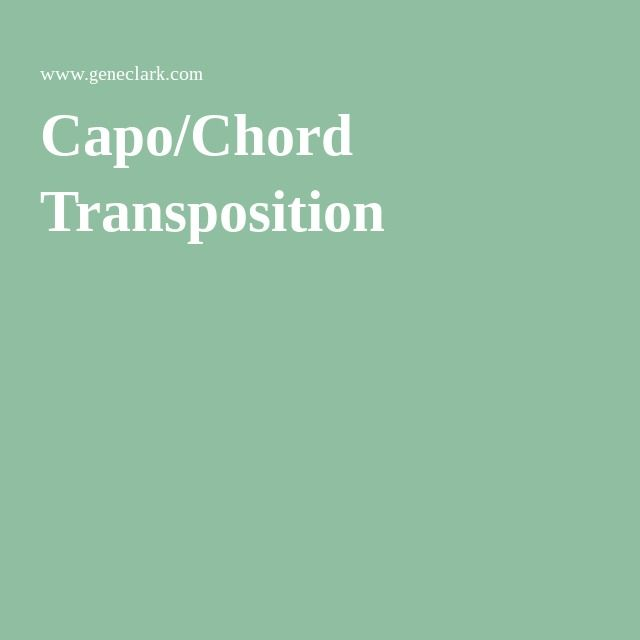 Capo/Chord Transposition