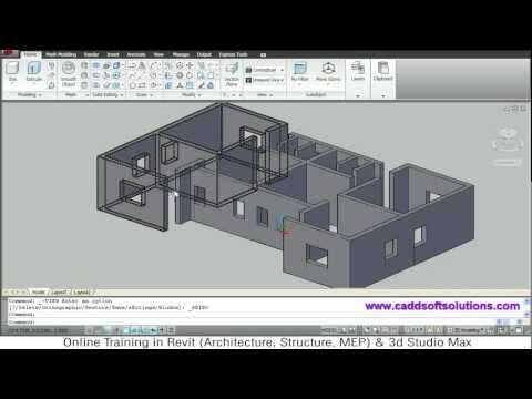 ▶ AutoCAD 3D House Modeling Tutorial - 1 | 3D Home Design | 3D Building | 3D Floor Plan | 3D Room - YouTube