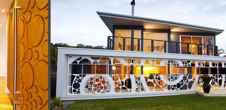This two storey beachfront residence was laid out to take advantage of the ocean views and the beach front location.
