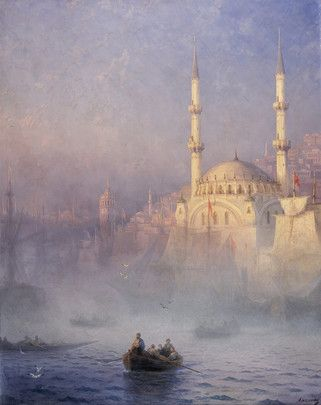 Ivan Konstantinovich Aïvazovski, Constantinople, la Mosquée Top-Kahné, 1884, huile sur toile, dépôt du Musée du Louvre, 1973.