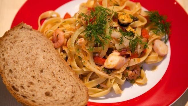 Fettuccine met zeevruchten - recept | 24Kitchen