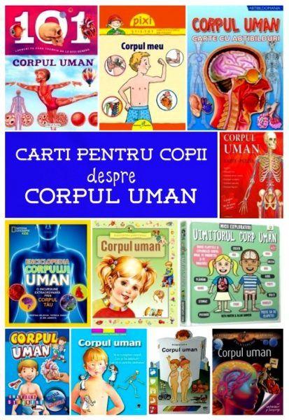 carti pentru copii despre CORPUL UMAN