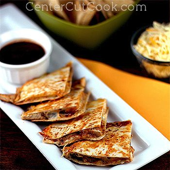 BBQ Ranch Quesadillas  ~ Could add chicken or just go meat free with just cheese
