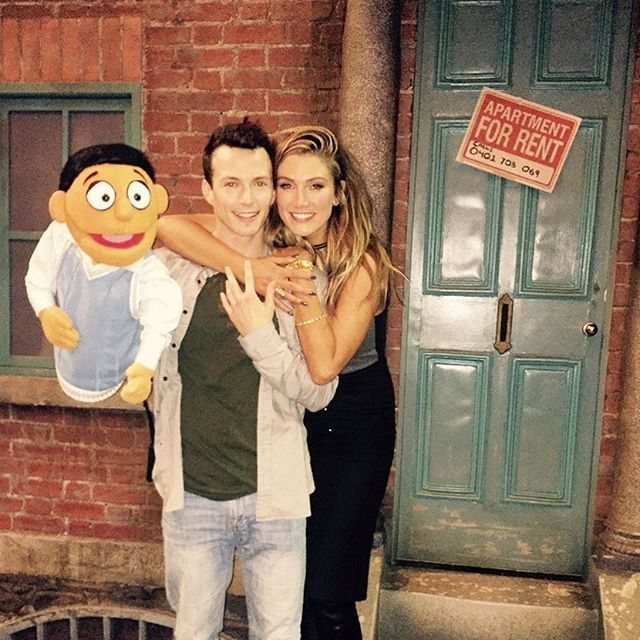 I am SO proud of my beautiful dear talented friend @rosshannaford ❤ wow! his talent knows no bounds !!  Love watching him absolutely kill it up on stage in Melbourne last night with the wonderful cast of AvenueQ, hilarious - check it out over the weekend at her majesty! Love you ❤️❣❤️ xox