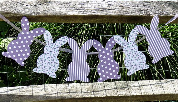 Bunny Banner bunny garland Easter Garland Easter banner
