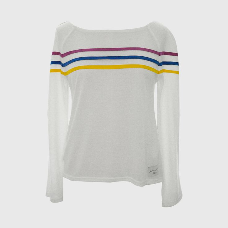 Jump Color Stripe Jersey Tops