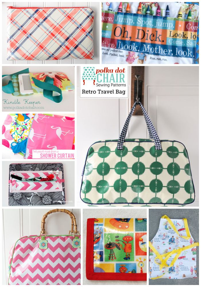 Projects Made with Laminated Fabrics and tips on sewing with Laminated Fabric.