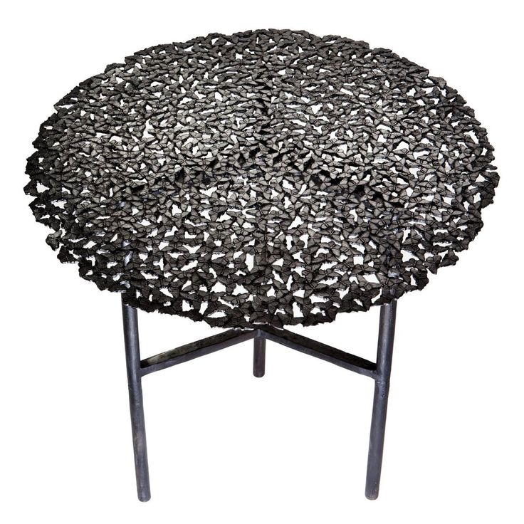 Jean Blackened Brass Lost Wax Cast Butterfly Indoor or Outdoor Side Table   From a unique collection of antique and modern side tables at https://www.1stdibs.com/furniture/tables/side-tables/