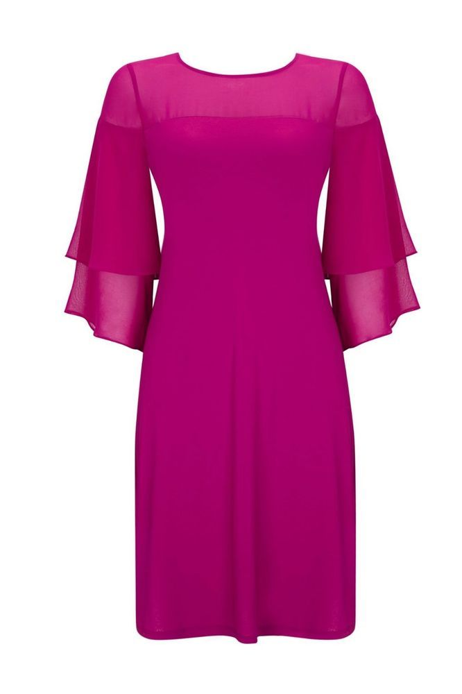 Wallis Pink Flute Sleeve Dress Size Uk 16 Rrp 39 Dh180 Yy 11 Fashion Clothing Shoes Accessories Womensclo Dress Shirts For Women Dresses Clothes For Women