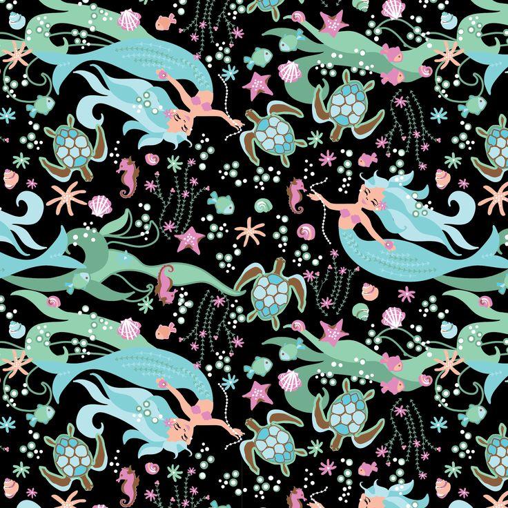 Mermaid & Friends children's print