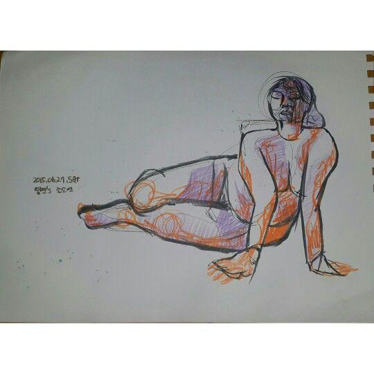 인체 색연필