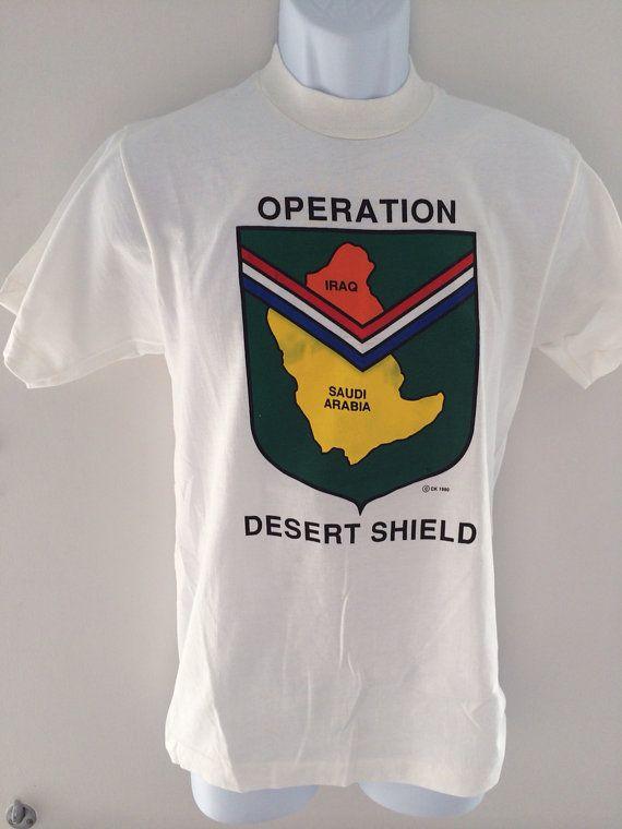 1990 Operation Desert Shield T-shirt on Etsy, $20.00