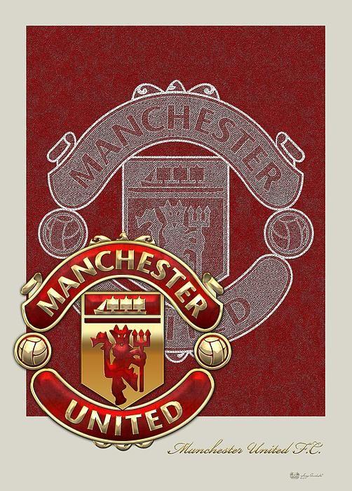 Manchester United F.C. Logo and 3D Badge fine art print by C.7 Design Studio