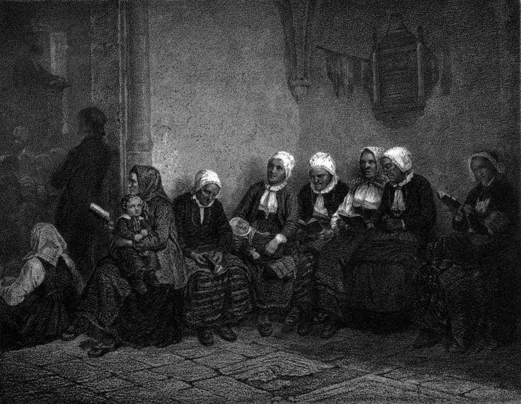Adolph Tidemand - I kyrkan. 1865. jpg (2369×1839)