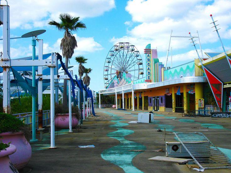 Jazzland / Six Flags New Orleans. Hurricane Katrina devastation.