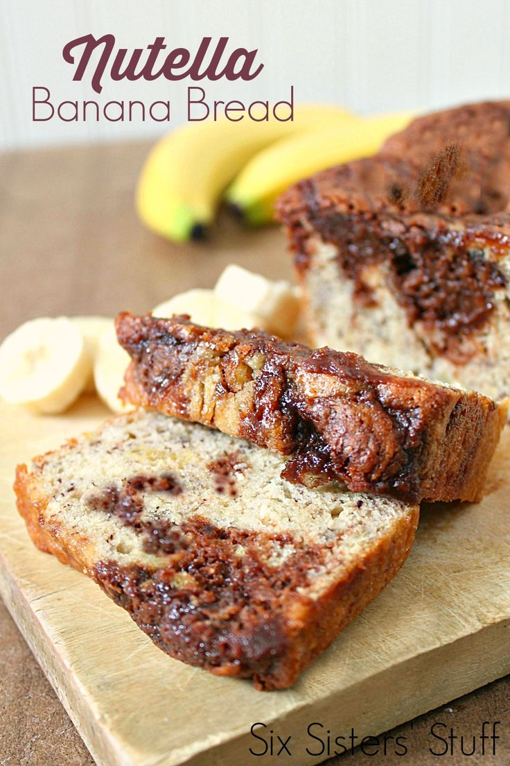 Nutella Banana Bread on SixSistersStuff.com - this bread is my new favorite banana bread recipe!