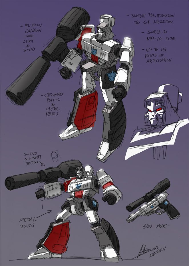 Classic Megatron Toy has a really tricky transformation system, simple and cool. I´ve seen many different new toys for Meg since then, changing a gun for a tank (cause of toy safety policies i...