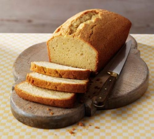 Madeira loaf cake (similar to a pound cake flavored with lemon zest and vanilla)