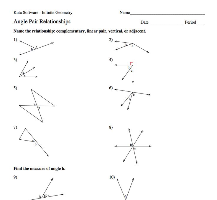 Angle Pair Relationships Practice Worksheet Answers ...