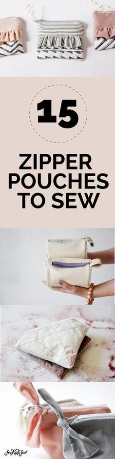 15 Zipper Pouch Tutorials | see kate sew | Bloglovin'