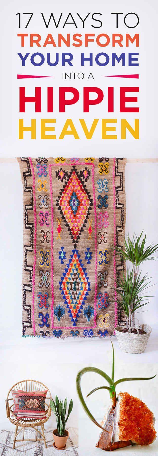 17 best ideas about hippie home decor on pinterest for Decoration hippie