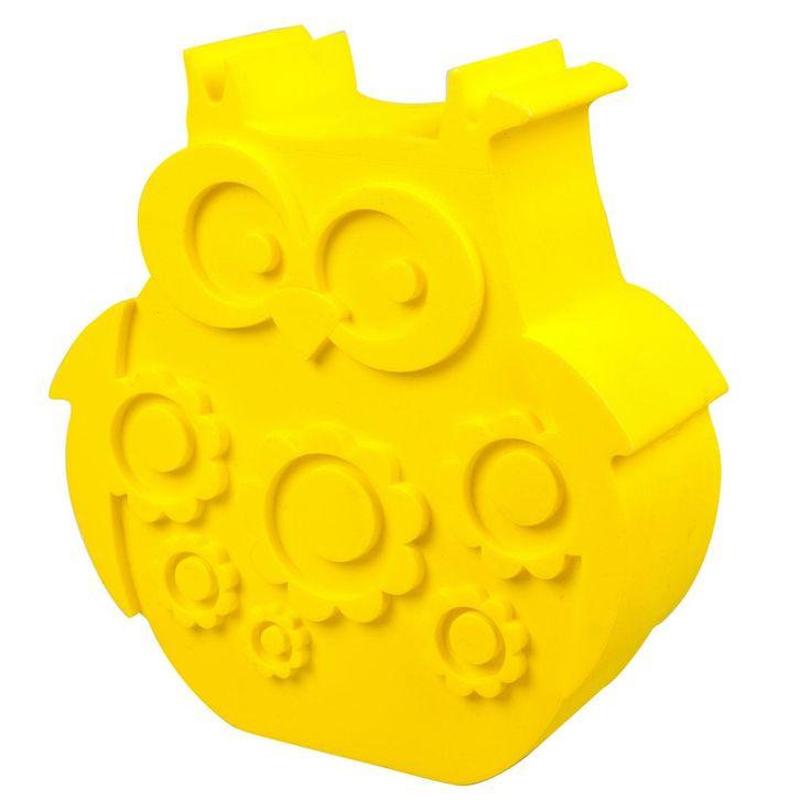 Blafre broodtrommel in de vorm van een uil. Kijk hier voor deze grappige gele lunchbox of een ander retro cadeautje van Blafre.
