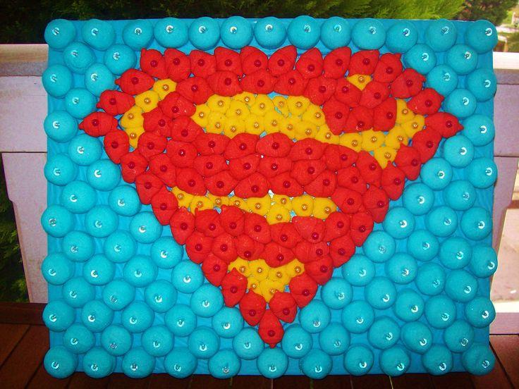 Tarta de chuches - Candy cake - Gâteau de bonbons - Snoeptaart - #Superman