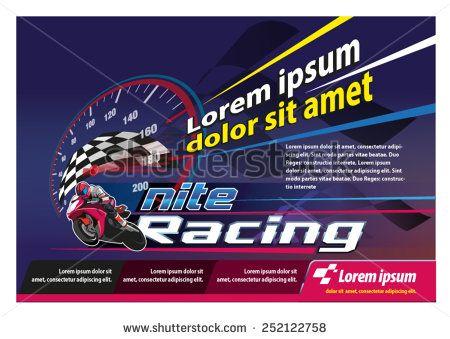Racing Poster - stock vector