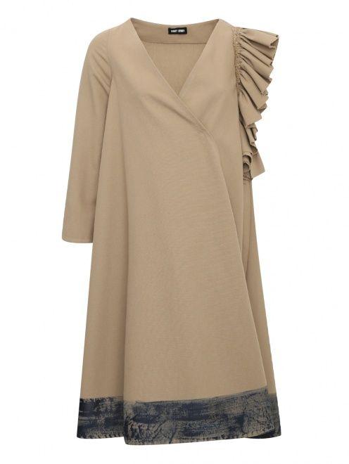 Платье с ассиметричным декором - Общий вид
