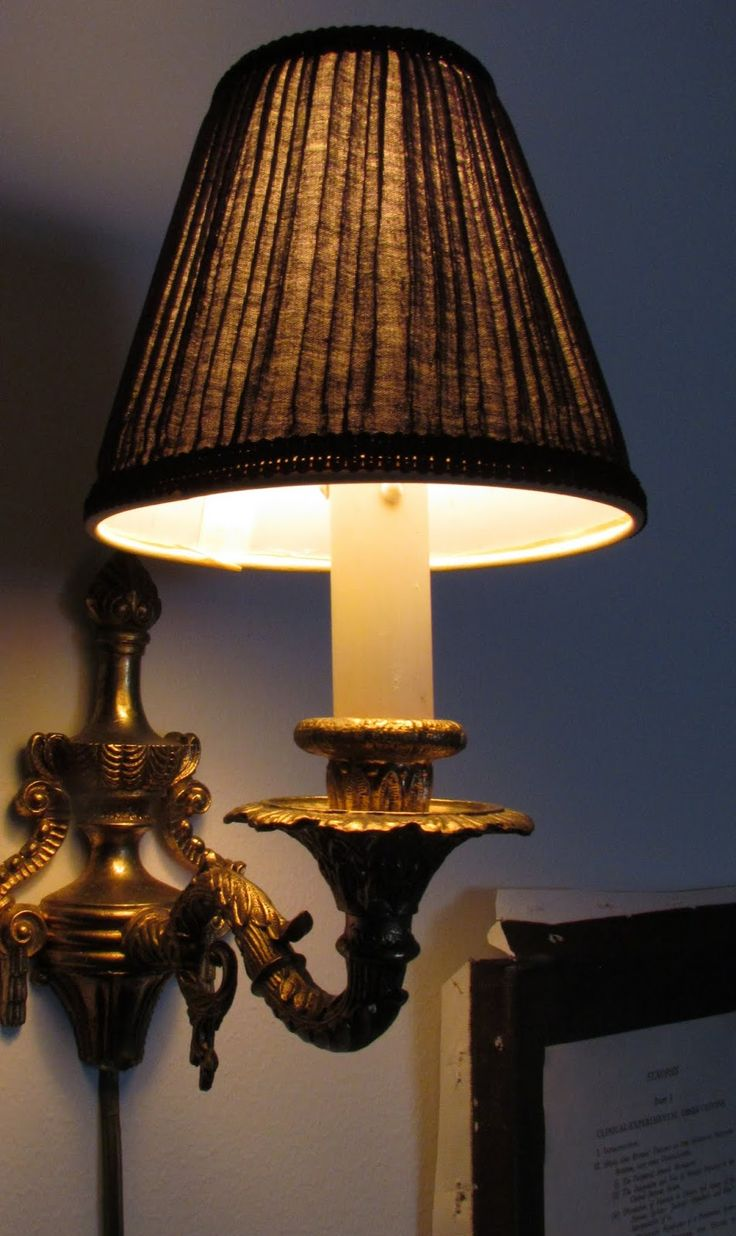Beautiful old lamp light creates warm and cosy feeling.